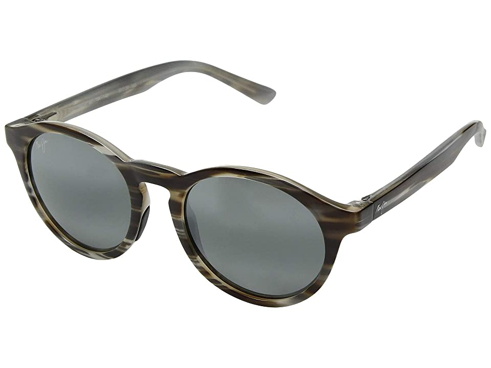 Maui Jim Pineapple (Slate Grey and Brown Stripe/Neutral Grey) Athletic Performance Sport Sunglasses