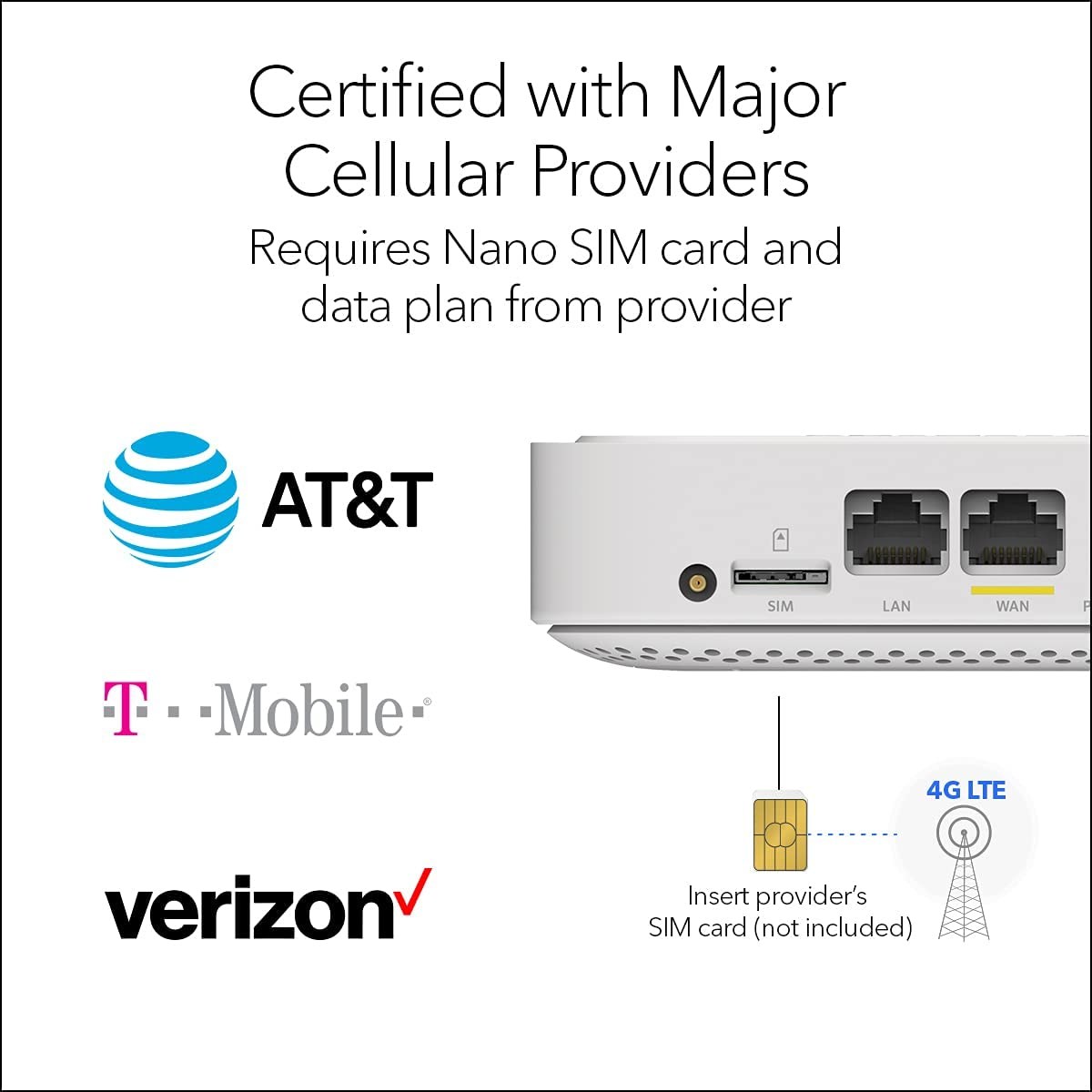 NETGEAR 4G LTE Broadband Modem (LM1200) – Use LTE as a Primary Internet Connection | Certified with AT&T, T-Mobile & Verizon
