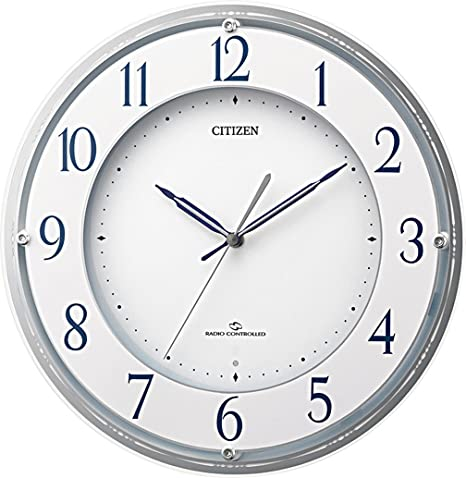 シチズン 大型 電波 壁掛け時計 高受信モデル ユニバーサルデザインフォント シルバー 550x55 4MY821-019 ( 4MY821019 ) リズム(株)