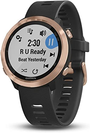 Garmin Forerunner 645 Music, GPS Running Watch with Pay contactless payments, Wrist-Based Heart Rate, Rose Gold, 010-01863-23