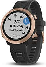 Garmin Forerunner 645 Music, GPS Running Watch with Garmin Pay Contactless Payments, Wrist-Based Heart Rate and Music, Rose Gold