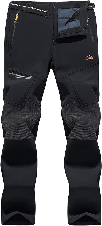 MAGNIVIT Men's Max 62% OFF Winter Fleece Lined Pants Waterproof Pan SALENEW very popular! Ski Snow