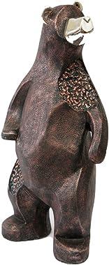 "PMJC Inc 15"" Bronze Big Stand Bear Figure"