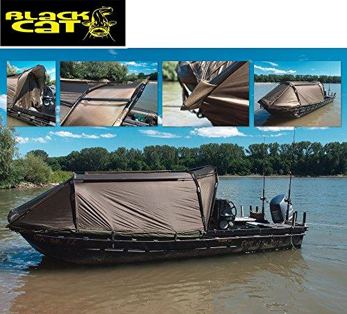 Black Cat Special Boat Cave II 335x220x105cm - Bootszelt, Angelzelt zur Montage auf Angelboot, Wallerzelt für Wallerboot