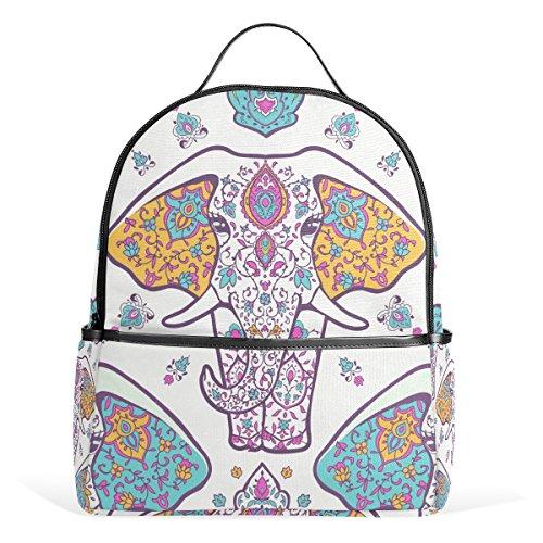 ALAZA dala Elephant Rucksack für Schule Bookbag