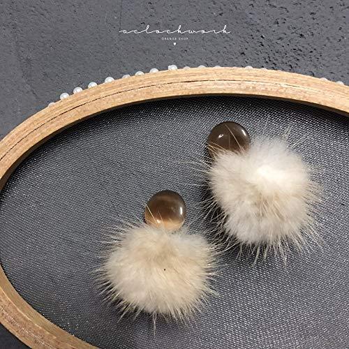 baijuxing Handgefertigte 925 Sterling Silber Ohrringe Ohrringe Haar Ball Ohrringe Student Kleid mit Geschenken