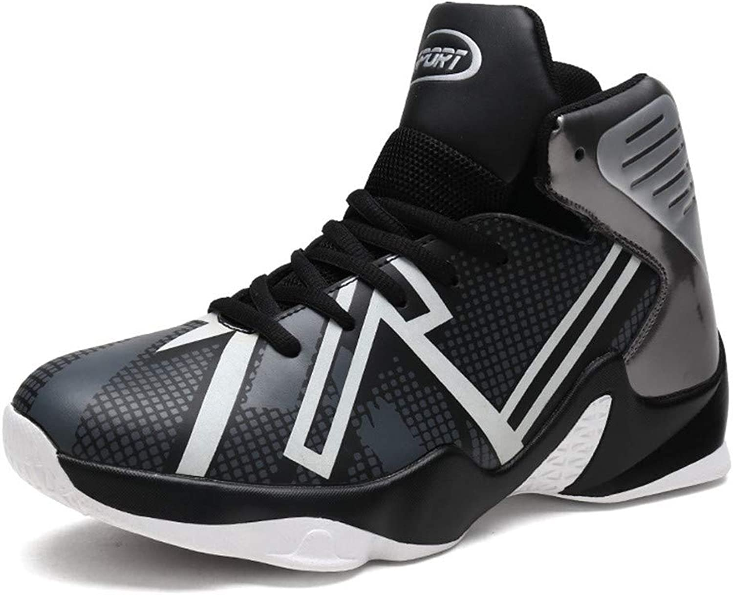 Mens High Top Basketball shoes Fashion Breathable Sports shoes Non-Slip Wear-Resistant Shock-Absorbing Boots