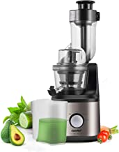 COMFEE' MJ-JS2007AW2 COMFFE' BPA Free Slow Jucier with Ice Cream Maker Function. Masticating Juicer, 1L, Champagne Gold