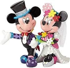 Enesco Disney Britto Figurita Mickey Y Minnie Mouse Figura Novio, Resina, Multicolor, 17x17x19 cm