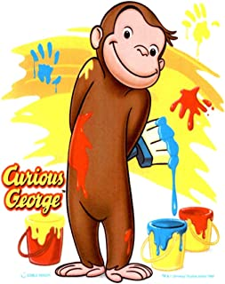Whimsical Practicality Cute Curious George Monkey Edible Icing Image Cake Topper 1/4 Sheet