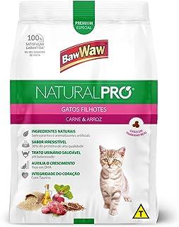 Ração Baw Waw Natural Pro para gatos filhotes sabor Carne e Arroz - 1kg