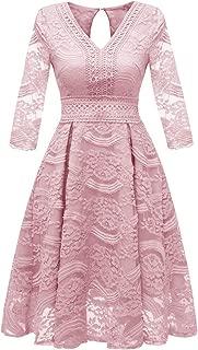 Dresses for Womens, FORUU Ladies Women Vintage Princess Chiffon Lace Cocktail V-Neck Party Aline Swing Dress
