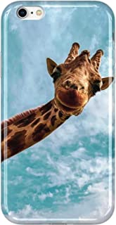 VIVIBIN iPhone 6 Case,iPhone 6s Case,Cute Giraffe for Women Girls Clear Bumper Soft Silicone Rubber TPU Cover Slim Fit Protective Phone Case for iPhone 6/iPhone 6s