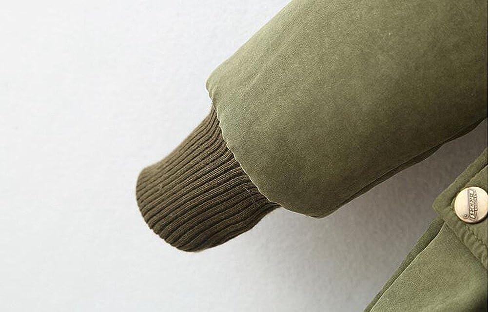 Anguang Damen Winter Warm Jacke Mantel Hooded Sweatshirt Stilvoll Kapuzenpullover Parka Outerwear Armee Grün