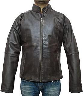 Tom Cruise Jack Reacher Distressed Brown Biker Real Leather Jacket