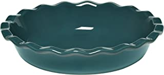 Emile Henry 976131 9 inch Pie Dish, Blue Flame, 9