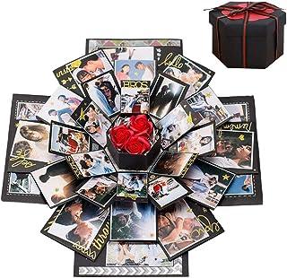 Boite Cadeau Creative, Boîte Surprise Explosion DIY Mémoire Box Album Photo Scrapbooking Album Photo Gift Box Cadeau Anniv...