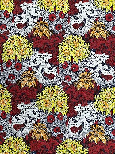 Katoen Print Stof voor Doeken Maken - 6 Yards (5,5 m Lang) - Gloednieuw - Super Design Print Stof van Roya Textile