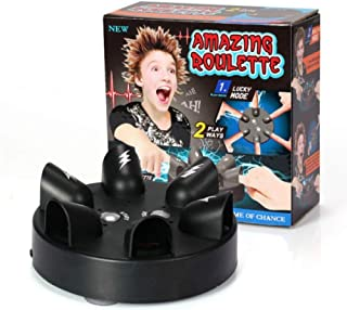 Fashionyourlife Tricky Electric Finger Lie Detector Finger Shock Game Shocking Roulette Shots Reloaded Shock Table Game The Cogs of Fate Party Shot Drinking Game