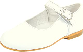 De Osu Girls White Leather Hightop Dress Shoes P-6517 Toddler