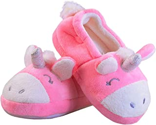 Image of Bright Pink Unicorn Slippers for Girls and Toddlers