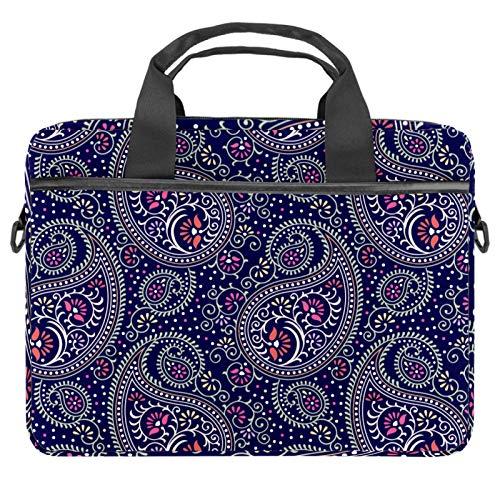 Laptop Bag Expandable Laptop Briefcase Fits Up to 13.4 14.5 Inch Laptop Shoulder Messenger Bag Computer Bag for Travel/Business/School/Men/Women Paisley Pattern