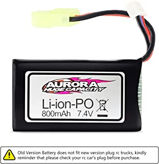 [ Old Version ] Hosim RC Cars Replacement Battery, 800mAh Old Version Li-ion Rechargeable Battery for Hosim 9130 9136 Truggy High Speed Truck Accessory Supplies
