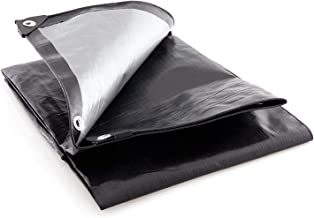 Super Heavy Duty 16 Mil Black Silver Poly Tarp Cover - Thick Waterproof, UV Resistant, Rot, Rip and Tear Proof Tarpaulin w...