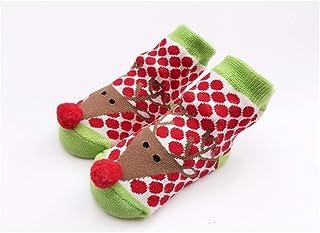 Taoyouzj, Taoyouzj Medias de Navidad Calcetines de Navidad del Nuevo cordón de Invierno Calcetines de algodón de Santa calcetín de la Muchacha Linda Nueva BornSock Ropa for niños pequeños