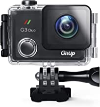 GitUp G3 Duo Action Camera 2160P 12MP Touch Screen Wi-Fi 170° Sports Cam with EIS 30m Waterproof Video Camcorder Support Remote Control and GPS Logger