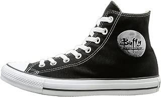 JayKi Buffy The Vampire Slayer Moon Logo Women Men Canvas Sneaker Sport Shoes Black