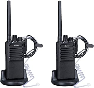 Walkie Talkies Voice Scrambler with Earpiece for Adults Outdoor CS Hiking Hunting Travelling Long Distance 2 Way Radios By Luiton (2 Packs)