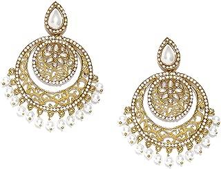 Zaveri Pearls Drop Earrings for Women (Yellow Golden) (ZPFK6517)