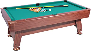 Roma Italy Billiard Table and Accessories Set - 06150101, Brown/Green