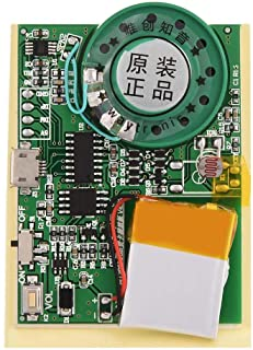 30s Music Sound Voice Recording Module Device Chip, Music Sound Playback Module Voice Module Chip 0.5W with Button Batter...