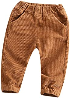 Unisex Kids Pants Todder Baby Boys Girls Casual Elastic Waist Fit Pants