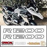 2pcs Adesivi R1200 compatibile con moto Motorrad LC R 1200 GS r1200gs (Grey)