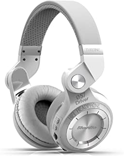 Bluedio T2 Plus Turbine Wireless Bluetooth Headphones with Mic/Micro SD Card Slot/FM Radio (White)