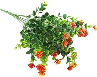 topxingch 1 Pieza de Flores Artificiales de eucalipto para decoración de jardín, escenarios, Fiestas, Bodas, Festivales: Amazon.es: Hogar