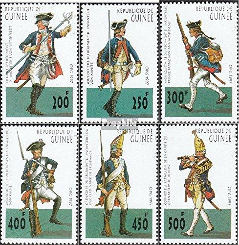Guinée mer.-no.: 1652-1657 (complète.Edition.) 1997 prussien Uniformes (Timbres pour Les collectionneurs) Uniformes / Costumes