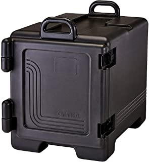 Cambro 300MPC-110 Black wit UPC300110 Ultra Front Loading Insulated Food Pan Carrier with Handles, 24