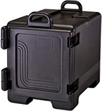 Cambro 300MPC-110 wit UPC300110 Ultra Black Front Loading Insulated Food Pan Carrier with Handles, 24