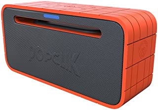 PopClik Speaker Airypower Bluetooth 4.0 Massive Bass 100 Foot Range 10 Hour of Continous Play Orange & Gray