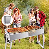 TTLIFE BBQ Grill Portable, Suitcase Type <span class='highlight'>Barbecue</span> Grill Foldable Stainless Steel <span class='highlight'>Barbecue</span> Grill Height Adjustable With Clips <span class='highlight'>Brushes</span> And Seasoning Bottles, For Patio And Outdoor <span class='highlight'>Barbecue</span>