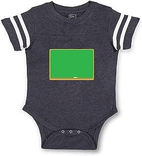 Chalkboard Taped Neck Boys-Girls Cotton Baby Football Bodysuit
