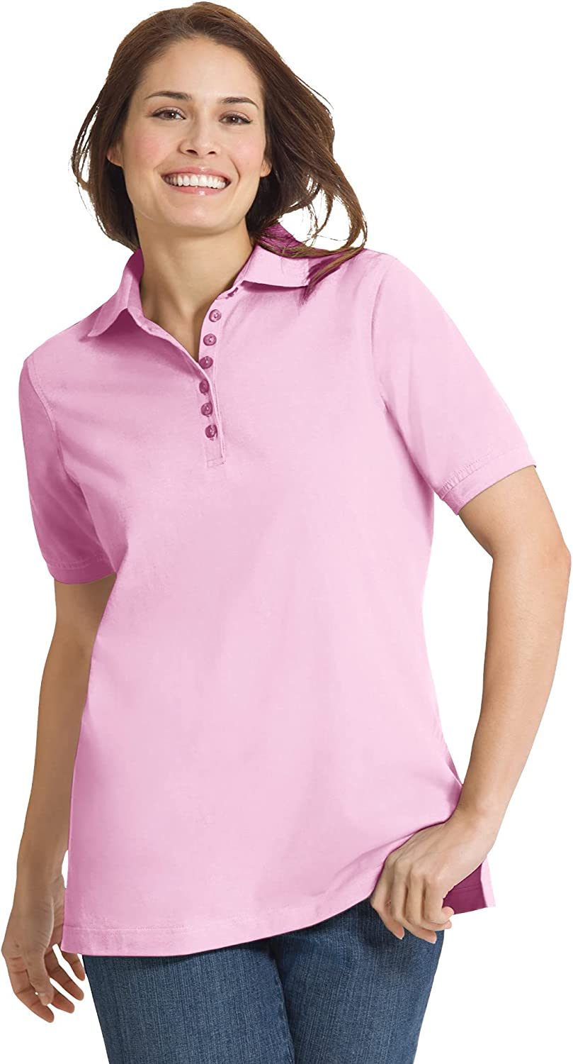 Woman Within Women's Plus Large special Opening large release sale price Size Perfect Shirt Polo Short-Sleeve