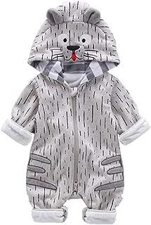 Fairy-Baby Unisex Kids Casual Playwear One Piece Bodysuit with Adorable Cartoon Animal Style Design Babyboys Cotton Romper Long Sleeve Autumn Homewear (Color : Gray, Size : 80)