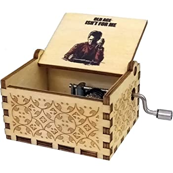 Zesta Wooden Hand Cranked Collectible Engraved Money Heist Music Box (Berlin)