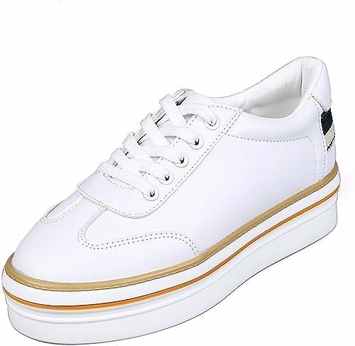 GTVERNH Chaussures pour femmes été Au Printemps Les Petits Souliers Blancs Seul Les Chaussures Des Chaussures De Femmes Sauvages Du Gateau épais Bas Bas.