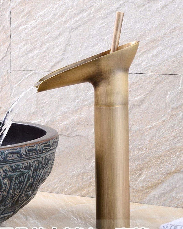 Oudan ?European style retro style copper basin Single Hole ceramic hot and cold water tap